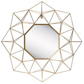 Gold Geometric Metal Wall Mirror